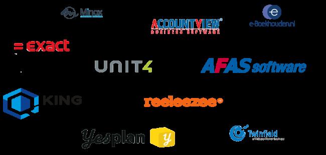 voorbeelden softwarepakketten MplusKASSA koppelingen